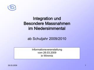 Informationsveranstaltung  vom 26.03.2009 in Wimmis