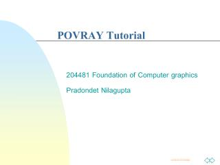 POVRAY Tutorial