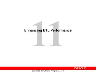 Enhancing ETL Performance