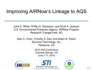 Improving AIRNow's Linkage to AQS