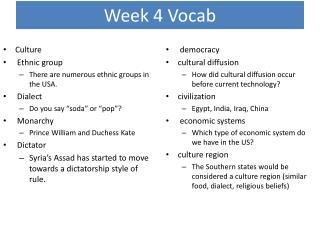 Week 4 Vocab
