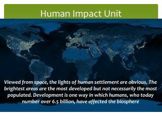 Human Impact Unit