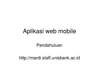 Aplikasi web mobile