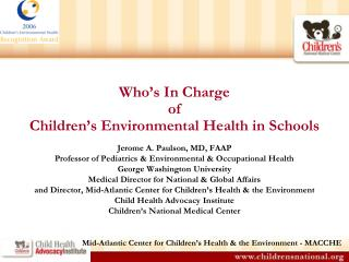 Who's In Charge of  Children's Environmental Health in Schools