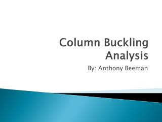 Column Buckling Analysis