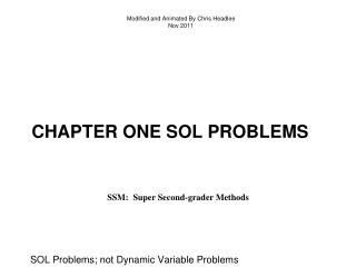 Chapter one sol problems