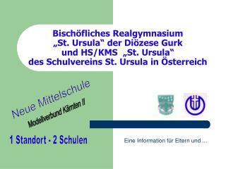 Bisch fliches Realgymnasium   St. Ursula  der Di zese Gurk und HS
