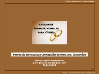 CATEQUESIS   PRE-MATRIMONIALES  PARA JÓVENES