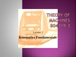Theory of Machines 804319-3