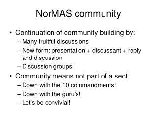 NorMAS community