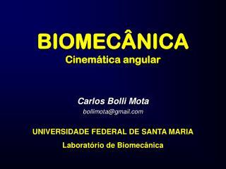 BIOMECÂNICA Cinemática angular