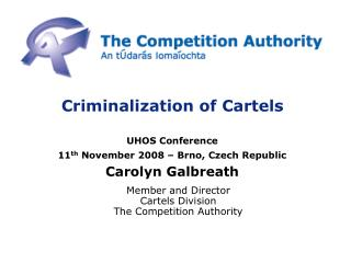Criminalization of Cartels