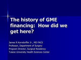 The history of GME financing:  How did we get here?