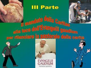 Il mandato della Caritas alla luce dell'Evangelii gaudium per rilanciare la pastorale della carità