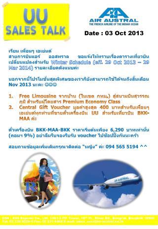 GSA : AVS Express Co., Ltd. 140/13 ITF Tower, 10 th  Fl.,  Silom  Rd.,  Bangrak , Bangkok 10500