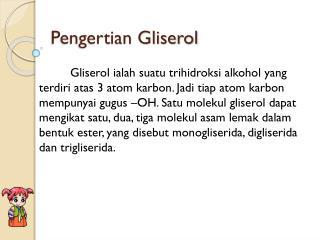 Pengertian Gliserol