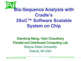 Bio-Sequence Analysis with Cradle�s  3SoC� Software Scalable System on Chip