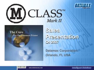 Sales Presentation                Q4 2007