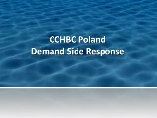 CCHBC Poland Demand Side Response