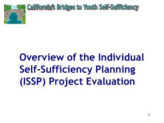 Overview of the Individual Self-Sufficiency Planning (ISSP) Project Evaluation