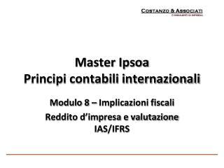 Master Ipsoa Principi contabili internazionali