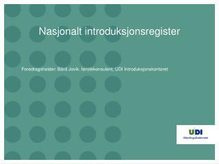 Nasjonalt introduksjonsregister