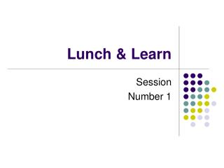 Lunch & Learn