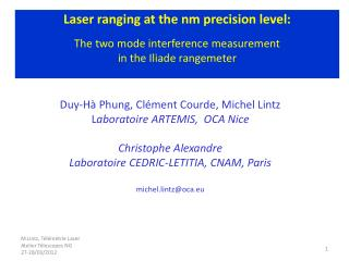 Three measurements: Optical wavelength   (  L  mod   opt ) phase measurement