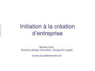 Initiation   la cr ation d entreprise