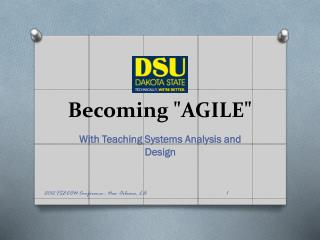 "Becoming ""AGILE"""