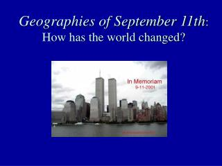 Geographies of September 11
