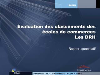 Évaluation des classements des écoles de commerces Les DRH