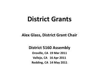 District Grants