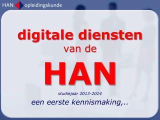 digitale diensten  van de HAN