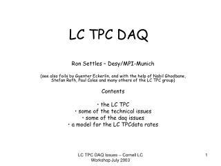 LC TPC DAQ