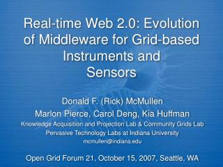 Real-time Web 2.0: Evolution of Middleware for Grid-based Instruments and Sensors