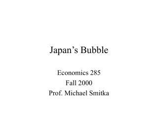 Japan's Bubble