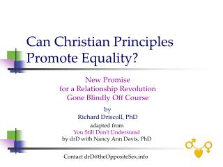 Can Christian Principles  Promote Equality?