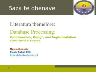 Baza te dhenave