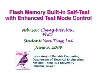 Flash Memory Built-in Self-Test with Enhanced Test Mode Control