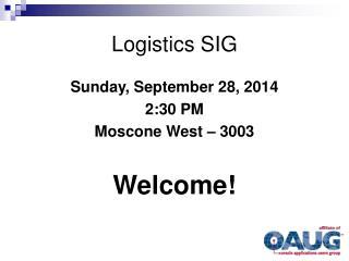 Logistics SIG