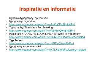 Inspiratie en informatie