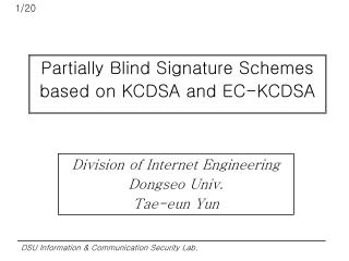 Partially Blind Signature Schemes based on KCDSA and EC-KCDSA