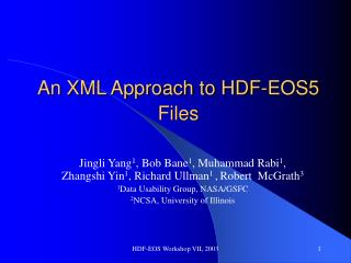An XML Approach to HDF-EOS5 Files