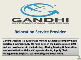 Relocation Service Provider - Moving to India , Household Go