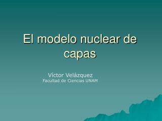 El modelo nuclear de capas