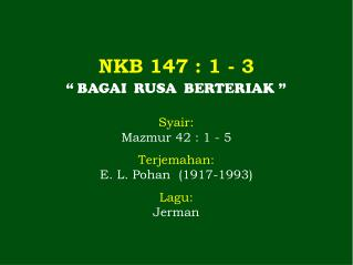 NKB 147 : 1 - 3