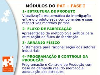 MÓDULOS DO  PAT – FASE I