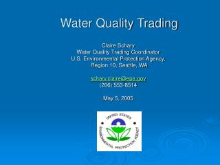 Water Quality Trading