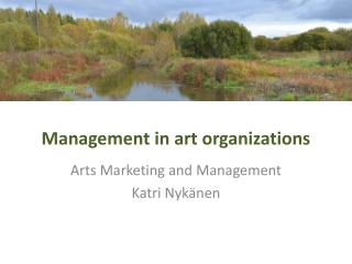 Management in art organizations